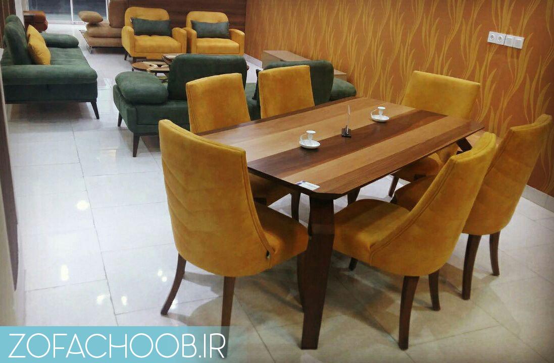 نمونه ای از میز های ناهار خوری ست شده با مبل